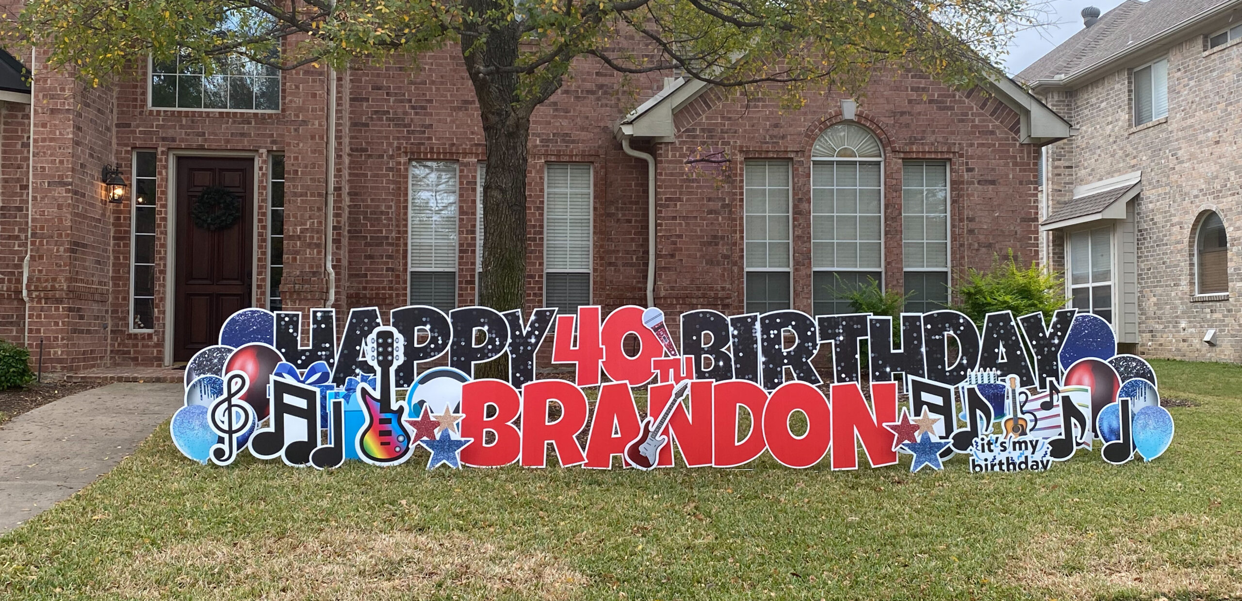 Happy Birthday Yard Sign Frisco
